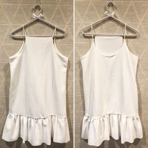 Zara w&b collection white ruffle dress M